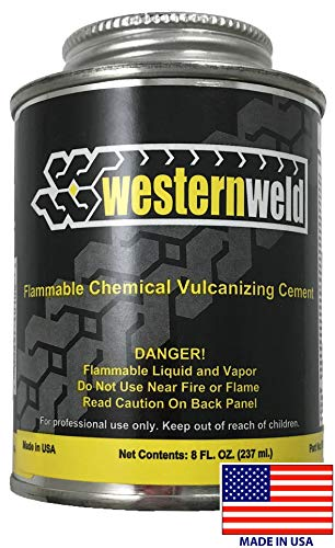 Western Weld Clear All Purpose Tire Repair Vulcanizing Cement Brush Top Can 8 oz