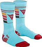 Dainese HG Hallerbos Socks, Calcetines de Bicicleta, MTB, Downhill, Enduro, All-Mountain, Ciclismo, Hombre y Mujer, Azul Claro/Rojo, M Unisex Adulto
