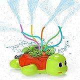 Kiztoys Wasserspielzeug Kinder Sprinkler Kinder,Sommer Wassersprinkler Spielzeug im Schildkröt Design für Garten Outdoor Aktivitäten,Sprühen Sie Wasserspielzeug für Kleinkinder Mädchen Jungen
