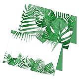 itenga 24 x Tischkarten Blätter Visitenkartengröße zum Klappen und Aufstellen