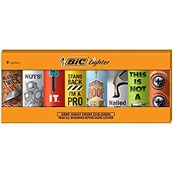 BIC Special Edition Shop Talk Series Lighters Set of 8 Lighters