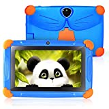 Tablet Kinder 7 Zoll SIXGO Android 8.1 HD Touchscreen 1 GB RAM + 16 GB ROM Quad-Core WiFi Kamera Bluetooth Kindersicherung Lernmedium GMS Zertifiziertes Kinder Spielzeug Kindergeschenk (blau)