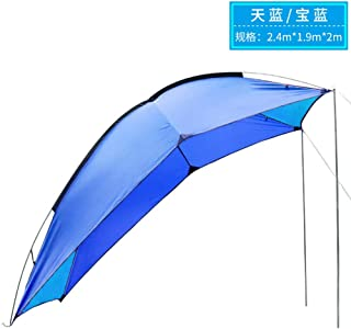 CJH Carport Parking shed Household car Awning Canopy Outdoor Rainproof Sunscreen Mobile carport Simple Picnic Tent (Color : Blue)