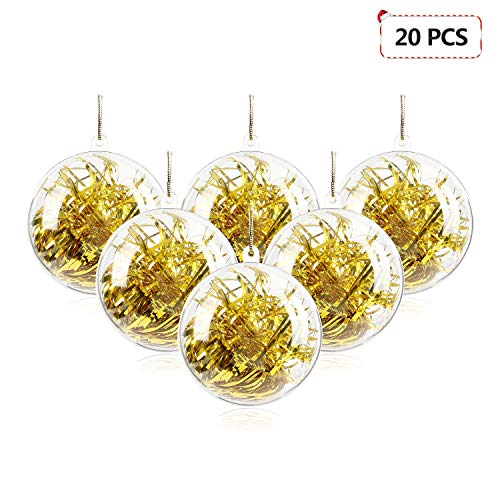 Mbuynow 20 Pack 50mm Clear Ornaments Balls