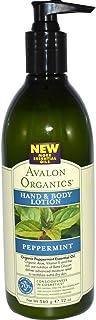 Avalon Organics Hand & Body Lotion Peppermint 12 oz (340 ml)