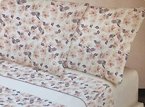 Manterol - Sábanas Provenzal Flores Grandes Manterol Cama 135 cm. (3 piezas)