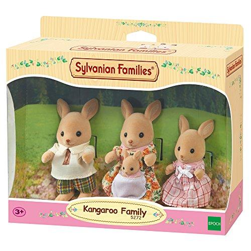Sylvanian Families - Le Village - La Famille Kangourou - 5272 - Famille 4 Figurines - Mini Poupées