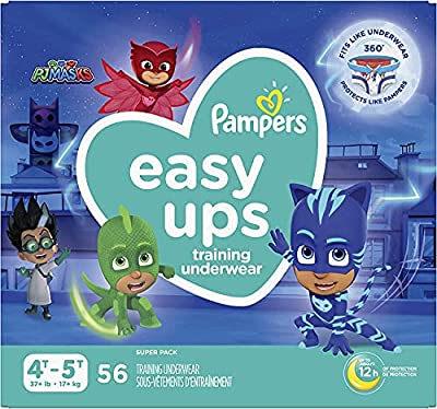 Pampers Easy Ups Training Pants Boys and Girls, 4T-5T (Size 6), 56 Count, Super Pack from Procter & Gamble - Pampers