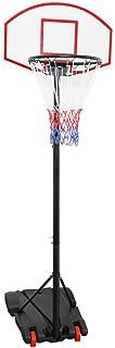comprar comparacion Display4top réglable 179–209 cm – Panier de basket-ball Portable Système de filet sur roues