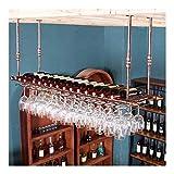Estantería de vino Estante del vino, colgando portavasos vino, colgando hacia abajo bastidores de vasos, barra casera creativa, vidrio estante estante del vino, cocina negro, bar, restaurante estante