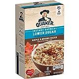 Quaker Lower Sugar Instant Oatmeal, Maple Brown Sugar, 1.19oz Packets (8 Pack)