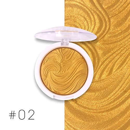 Miss rose Glow Kit Illuminator Base Makeup Shimmer Powder Highlighter Palette Shade 02, golden, 10 g
