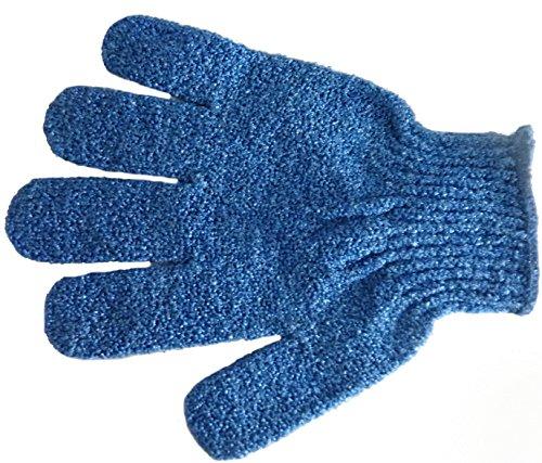 P&P Accessoires Massage- und Peelinghandschuh dunkelblau, 6er Pack (6 x 1 Stück)