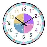 GGHKDD Reloj de pared de 30,5 cm con panel de cristal de 4 K para...