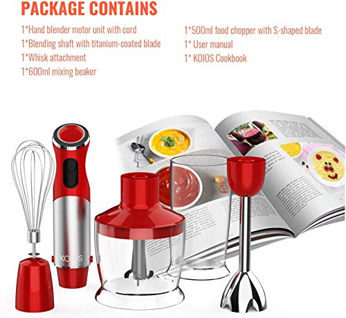 package details of KOIOS 800W 4-in-1 Multifunctional Hand Immersion Blender