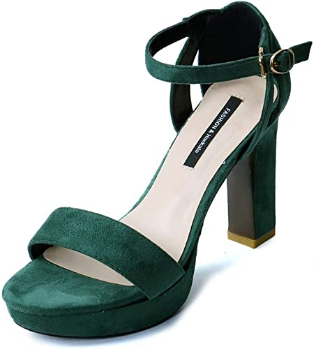 Mr.Zhang's Art Home Wohombres zapatos zapatos verdes de tacón Alto ahuecados con Sandalias de Palabra Abierta