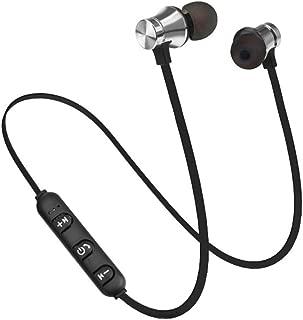 Docooler XT-11 BT 4.1 Wireless In-ear Headphones Outdoor Sport Headsets Music Earphone Magnetic Suction Built-in Microphone Line Control Silver