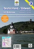 Deutschland Südwest mit Bodensee: Wassersport-Wanderkarte