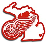 (Detroit Red Wings, 13cm , Red) - NHL unisex Home State Decal