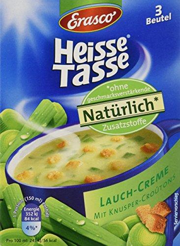 Heisse Tasse Lauch-Creme mit Croûtons Faltschachtel á 3 Beutel á 0,15 l, 12er Pack (12 x 450 ml)