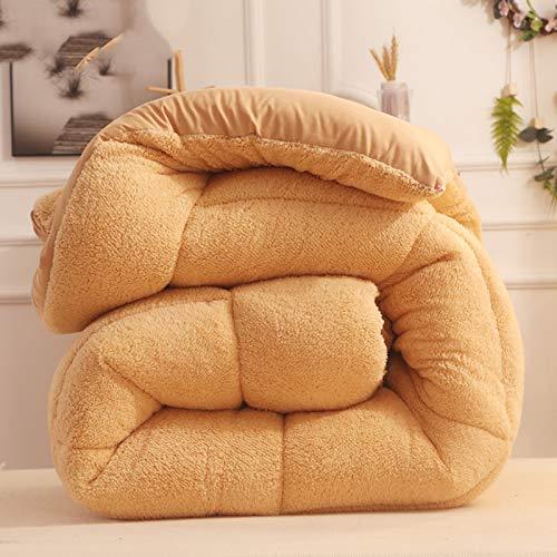 BAIHAO Double Bed Duvet Duvet Cotton Winter - Winter Warm Lamb Velvet Core,thick Warm Plush - Plus Velvet Core Quilt Winter Quilt All Seasons Duvet King Size