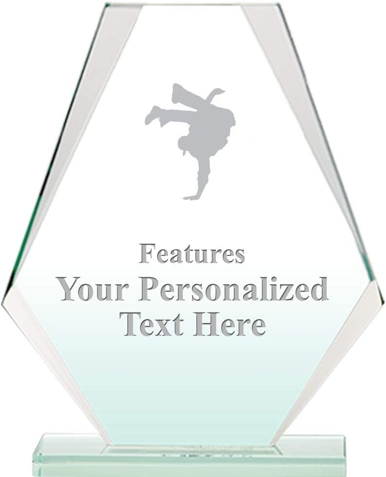Dancing Jade Pyramid Crystal Award 6