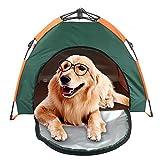 Tienda para mascotas al aire libre protector solar a prueba de lluvia coche portátil plegado automático casa de la perrera carpa para perros Tienda de mochila ultraligera para excursionismo Camping
