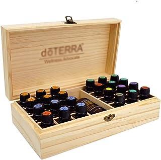 Essential Oil Gift Box Solid Oil Storage Box Essential Oil Display Rack High-Grade Pine Packaging 24+1 Grid (Color : Beige)