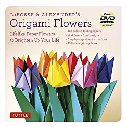 LaFosse & Alexander's Origami Flowers Kit: Lifelike Paper Flowers to Brighten Up Your Life [Origami Kit with Book, 180 Papers, 20 Projects, DVD]