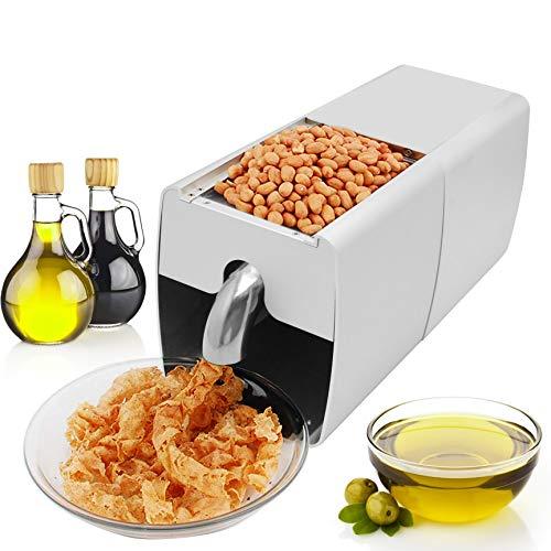 Huanyu Ölpresse Automatische Ölmühle 2-3kg/h Ölpressen Maschine 45% bis 50% Hohe Ölausbeute Extraktor mit 360 ° Supraleitenden Thermostat für Kerne, Nüsse Samen Oliven Mehr als 30 Zutaten