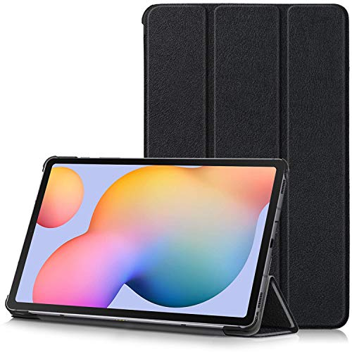 TTVie Case for Samsung Galaxy Tab S6 Lite, Ultra Slim Lightweight Smart Shell Stand Cover with Auto Wake/Sleep Function for Samsung Galaxy Tab S6 Lite 10.4-Inch Tablet 2020 Release, Black