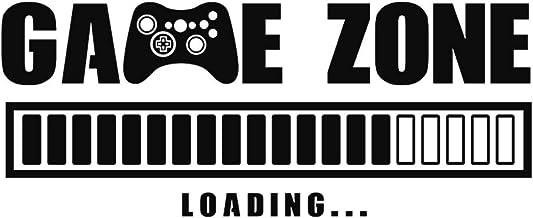 Calcomanías de pared de carga de Game Zone, pegatinas de pared extraíbles, citas negras de PVC para hogar, oficina, dormit...
