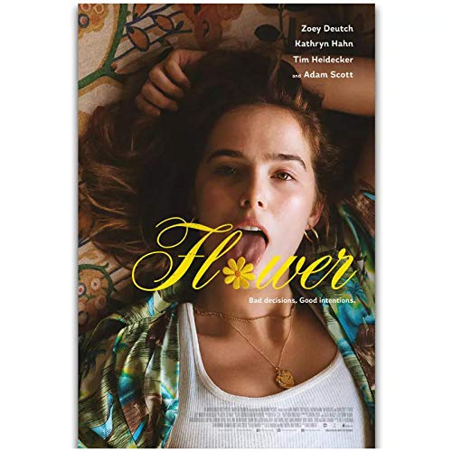 wzgsffs Flower Movie Poster 2018 Zoey Deutch Kathryn Hann Wall Art Poster And Prints Print On Canvas For Living Room Cafe-16X24 Inchx1 Frameless