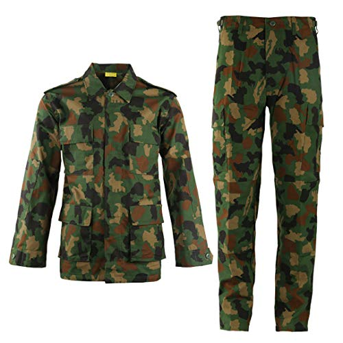 SR-Keistog Uniforme Militar de Camuflaje táctico Traje de Ropa para Hombres Camisa de Combate Militar Airsoft + Pantalones Cargo