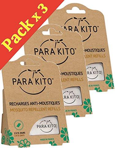 Paquete 3 x 2 de recambios Naturales para Pulsera y