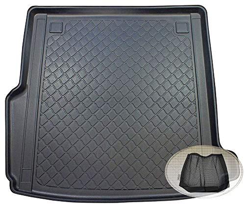 ZentimeX Z3130100 Gummierte Kofferraumwanne fahrzeugspezifisch + Klett-Organizer (Laderaumwanne, Kofferraummatte)
