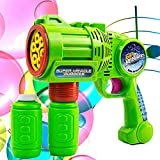 Toysery Bubble Gun Blower for Kids, Non-Toxic Leak-Resistant Automatic Bubble in Minutes, Easy Refill Bubble Blaster Toys for Toddlers Boys, Girls, Party Favors, Easter, Birthday Gift and Outdoor