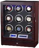 JJDSN Agitador mecánico Totalmente automático Reloj de Giro Reloj Caja de bobinado automático Bobinadora con cajón Moda