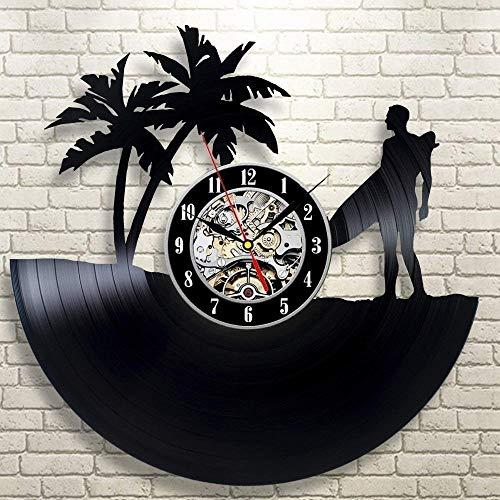 KDBWYC Reloj de Pared con Disco de Vinilo LP Creativo, Regalo de diseño único para Amigos, decoración del hogar y la habitación, Arte Hecho a Mano