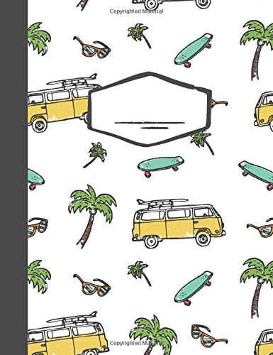 Composition Book - Surf's Up Notebook - College Ruled - 110 Pages