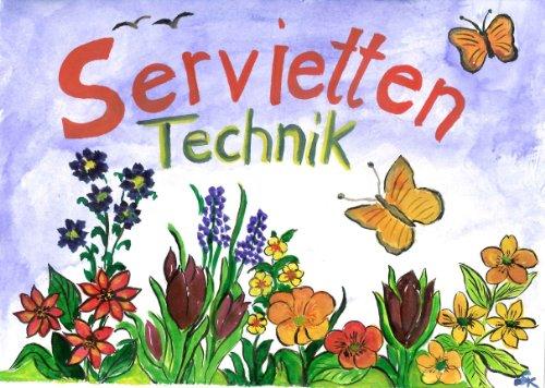 CSB-Center Serviettentechnik - Set, Servietten, Kleber, Pinsel, Anleitung