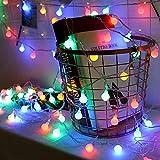 Guirnalda Luces 50 LED, 5m Cadena Luces Pilas Decorativas, Luz Luminosas para Interior, Jardines, Habitacion, Boda, Fiesta de Navidad (Multicolor)
