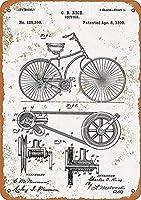 自転車のデザイン、ブリキのサインヴィンテージ面白い生き物鉄の絵画金属板ノベルティ