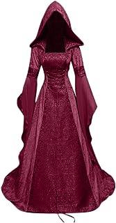 Modaworld Carnevale Vestito da Donna Medievale Costume Cosplay Principessa Fantasiaabito Rinascimentale retrò Gotico Fancy...
