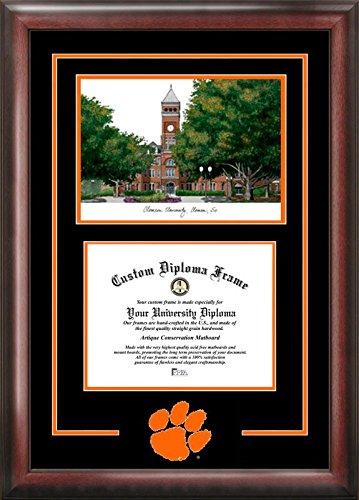 Campus Images SC994SG Clemson University Spirit Graduate Diploma Frame with Lithograph Print, 8.5