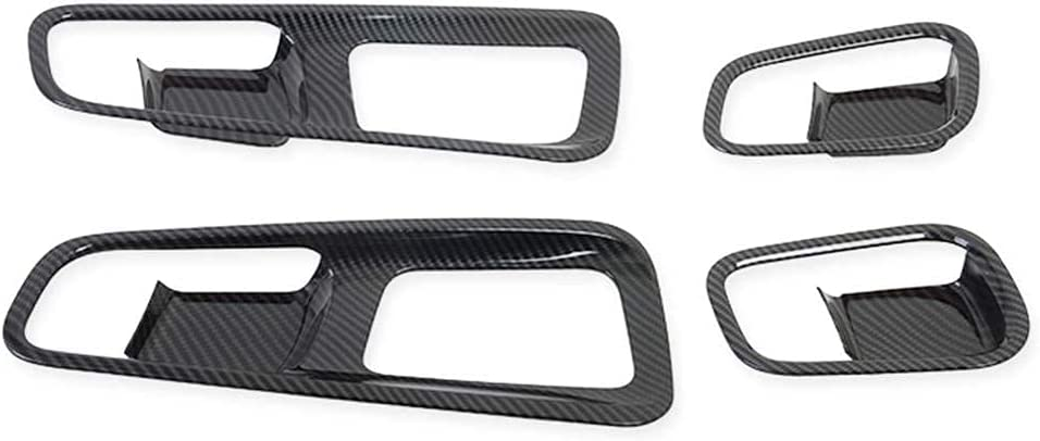 OFFicial mail order Carbon Fiber Car Inner Door Handle Frame Decorat Cover Bowl Trim Cheap mail order sales