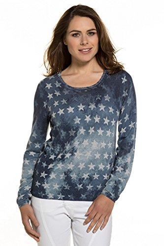 GINA LAURA Pullover, Sterne, Verwaschener Print Jersey para Mujer