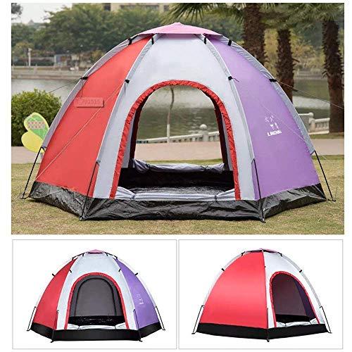 KEKEYANG Tent, La gente al aire libre 5-6 pop-up tienda de campaña impermeable libre de mosquitos Prueba UV Parasol Playa Refugio tienda impermeable anti-UV familia de excursión que acampa Sombrilla C
