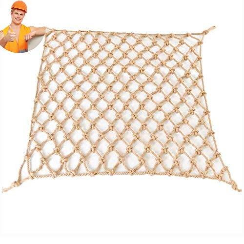 Wlh Juteschnur String Netting Natürliche Dekorative Hanf Net Erwachsene Fitness Jutenetz Studenten Trainingsnetz Veranda Netting Net Zaun Net Park Dekorative Net (6mm Seil 10 cm Loch) (Size : 0.5×1m)