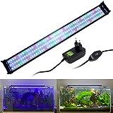 VARMHUS Lámpara de acuario de espectro completo con soportes extensibles, LED azul, blanco, verde y rojo, para acuarios de 95 a 115 cm (36 W)